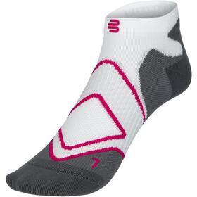 Bauerfeind Run Performance Low Cut Socks Women, bianco/grigio
